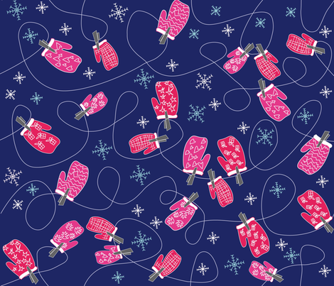 Ditsy mittens 01 fabric by sarah_s_ on Spoonflower - custom fabric