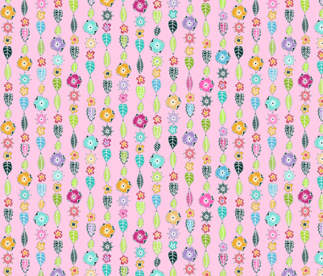 springtime little cloisonne flowers fabric by scrummy on Spoonflower - custom fabric