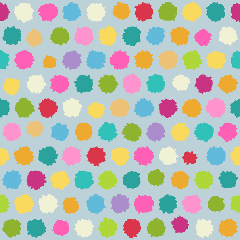 pom pom spring fabric by scrummy on Spoonflower - custom fabric