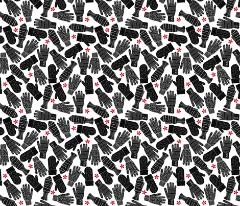 Graphic Mittens fabric by zapi on Spoonflower - custom fabric