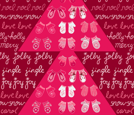 Holly Jolly Joy at Christmas fabric by rubydoor on Spoonflower - custom fabric
