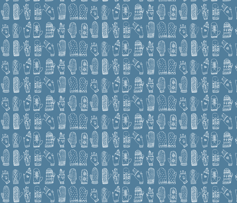 Mittens fabric by comfortablyblue on Spoonflower - custom fabric