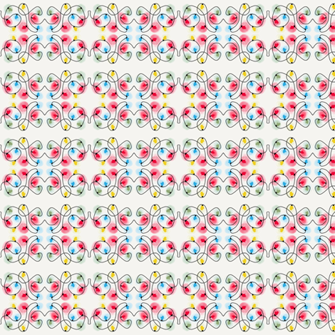 Mitten Holiday Lights fabric by dejachic on Spoonflower - custom fabric