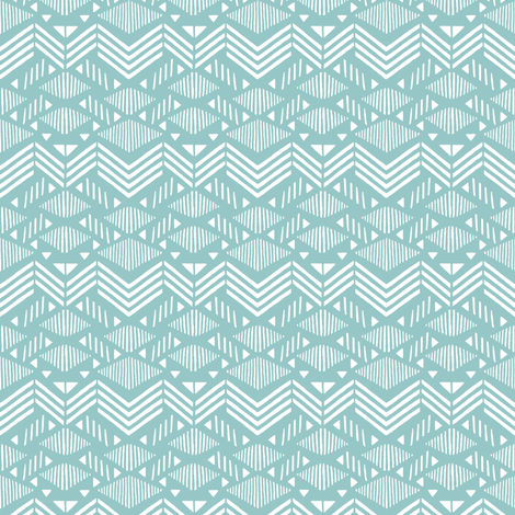 Mint Chevron fabric by kimsa on Spoonflower - custom fabric