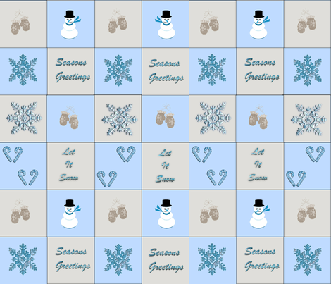 Mittens blue fabric by sewpersonal_designs on Spoonflower - custom fabric
