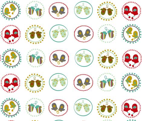 MITTENS fabric by mokimota on Spoonflower - custom fabric