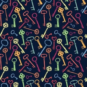 keys seamless pattern