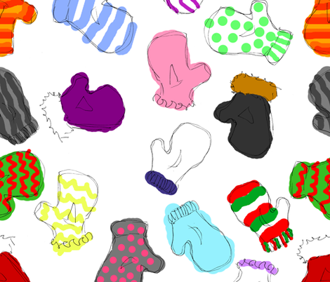 Sketchy Mitts fabric by art_rat on Spoonflower - custom fabric