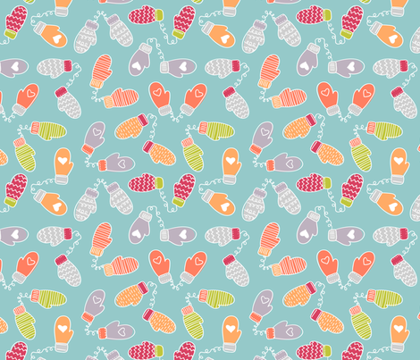 Multi Mittens fabric by juliestein on Spoonflower - custom fabric