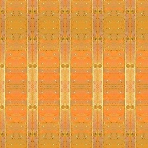 Rustic wall-golden stripes and dots-ed