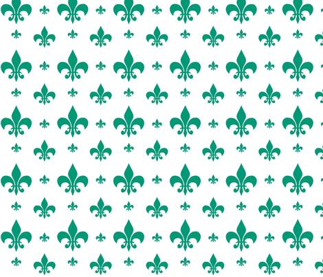 Emerald Fleur-de-lis fabric by carbonatedcreations on Spoonflower - custom fabric
