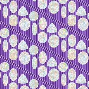 Opals on Violet