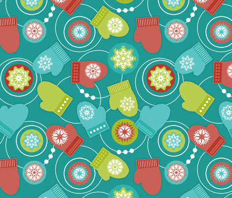 Snowball Fight! fabric by dianef on Spoonflower - custom fabric
