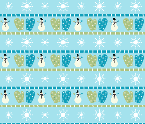 Frosty Mittens fabric by taramcgowan on Spoonflower - custom fabric