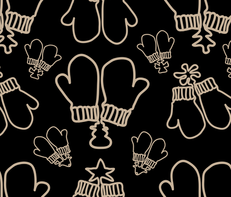 Winter Mittens fabric by sarahjtwist on Spoonflower - custom fabric