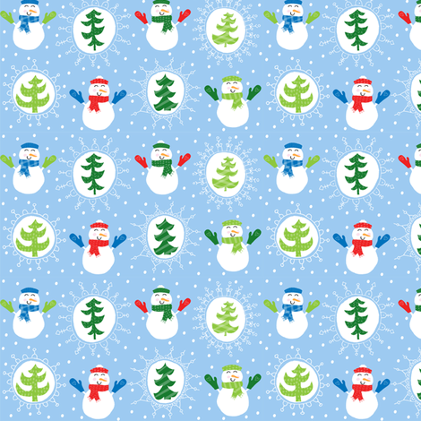 Snuggly Snowmen fabric by pattyryboltdesigns on Spoonflower - custom fabric
