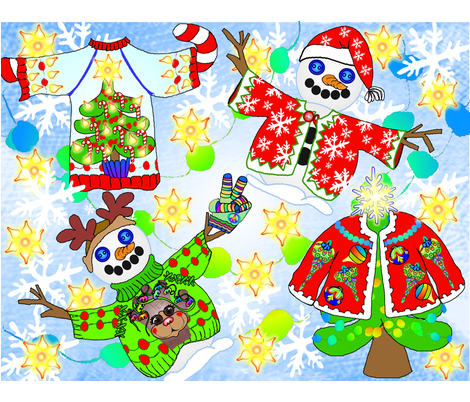 Chritmas_Sweaters fabric by maryelainedegood_wheatley on Spoonflower - custom fabric