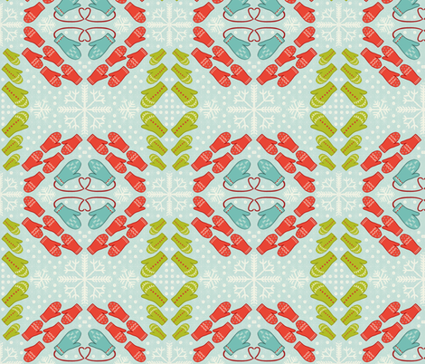 La fete d'hiver fabric by alterflower on Spoonflower - custom fabric