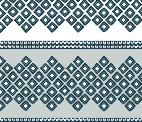 Vintage Ski fabric by jenfur on Spoonflower - custom fabric