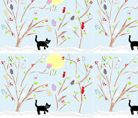 MittenHangings fabric by eensyweensyspider on Spoonflower - custom fabric