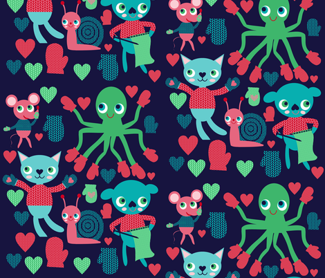 mitten party fabric by heidikenney on Spoonflower - custom fabric
