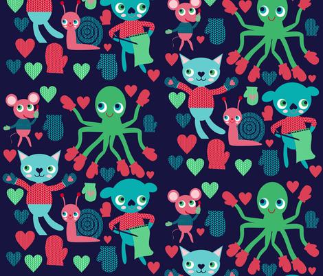 mitten party fabric by heidikenney on Spoonflower - custom fabric