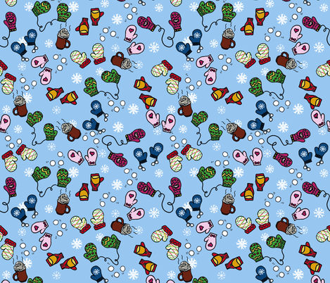 Snow Day! fabric by happy_adventuress on Spoonflower - custom fabric