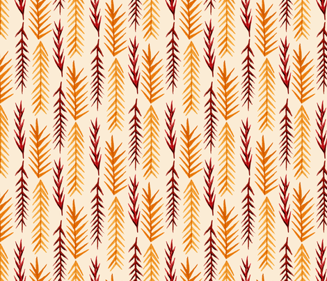 Autumn Pine Leaves fabric by katrinazerilli on Spoonflower - custom fabric