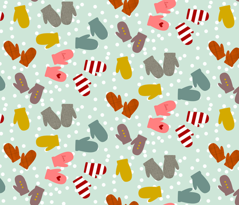 SnowDays fabric by mrshervi on Spoonflower - custom fabric