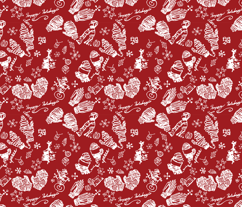Ditsy Mitts fabric by craftonista on Spoonflower - custom fabric