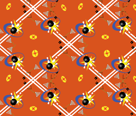 Strike pumpkin fabric by craftonista on Spoonflower - custom fabric