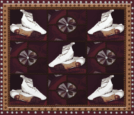 Wedding Shoes Quilt Block fabric by anniedeb on Spoonflower - custom fabric