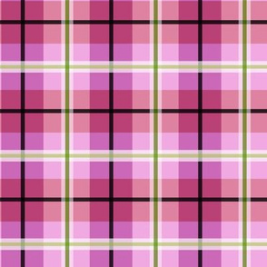 Lady Slipper Coordinate Tartan Pink