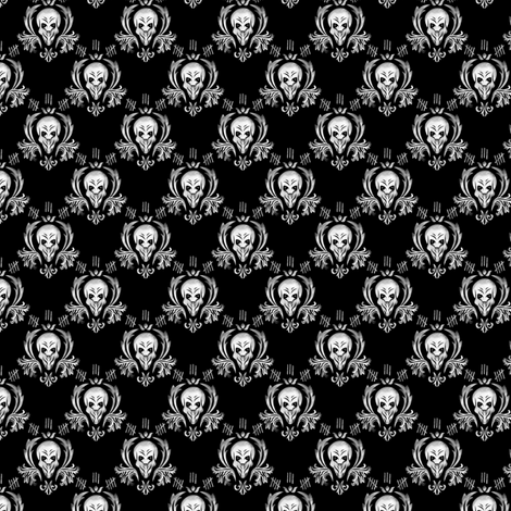 Silence_small fabric by nerkquirks on Spoonflower - custom fabric
