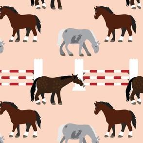 Horses on Pink (Ben, Obie, Danny)