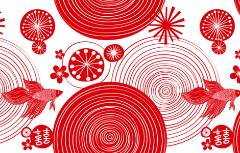 Chinese New Year Celebration - YARD fabric by friztin on Spoonflower - custom fabric