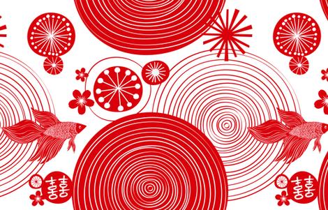 Chinese New Year Celebration - YARD fabric by friztin on Spoonflower - custom fabric