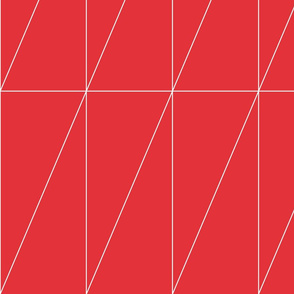 Red Triangle Pattern by Friztin