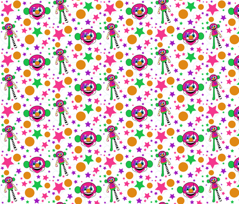 Gabby the Clown Monkey fabric by staceyjean on Spoonflower - custom fabric
