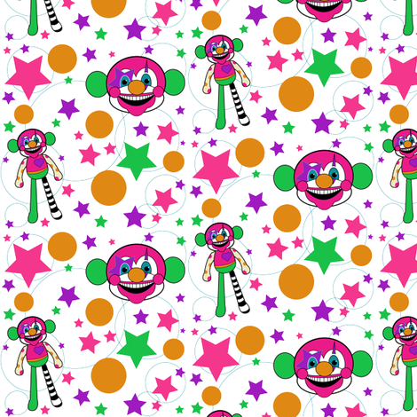 Gabby the Clown Monkey fabric by pumpkinbones on Spoonflower - custom fabric