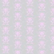 Grey damask with pink