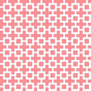 Eta Check v3   -Coral Pink and White