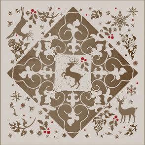 parisian reindeer scarf