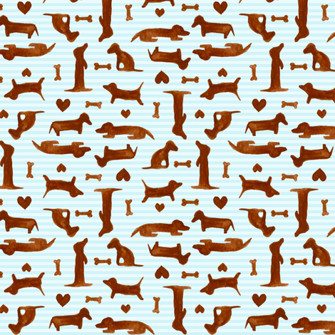itty bitty teeny weenies fabric by katrinazerilli on Spoonflower - custom fabric