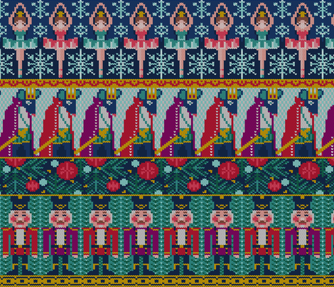 nutcracker knit fabric by cjldesigns on Spoonflower - custom fabric
