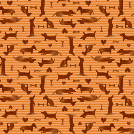 itty bitty teenie weenies fabric by katrinazerilli on Spoonflower - custom fabric