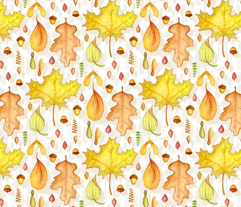 Autumn Leaf Collection fabric by katrinazerilli on Spoonflower - custom fabric