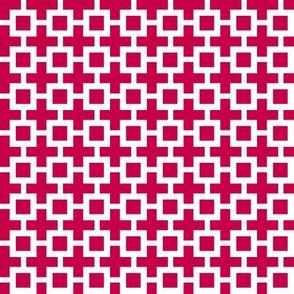Eta Check v3   -Cherry Red and White
