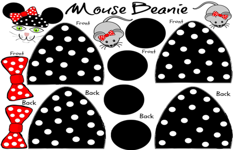 BABY  MOUSE BEANIE fabric by bluevelvet on Spoonflower - custom fabric