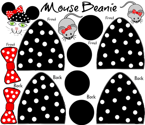 PET HAT - MOUSE BEANIE fabric by bluevelvet on Spoonflower - custom fabric